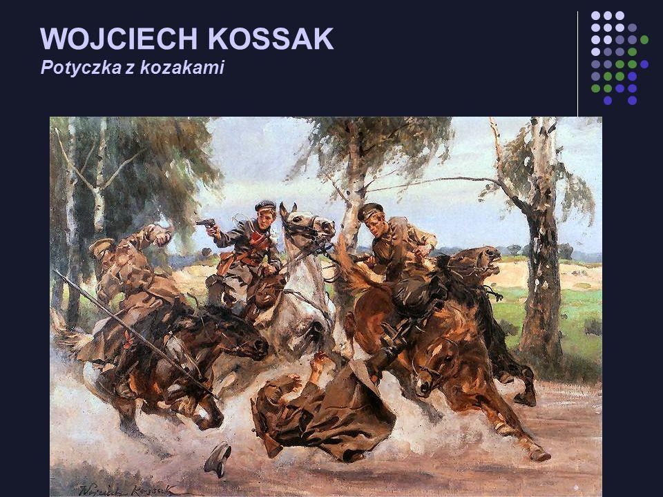 WOJCIECH KOSSAK Potyczka z kozakami