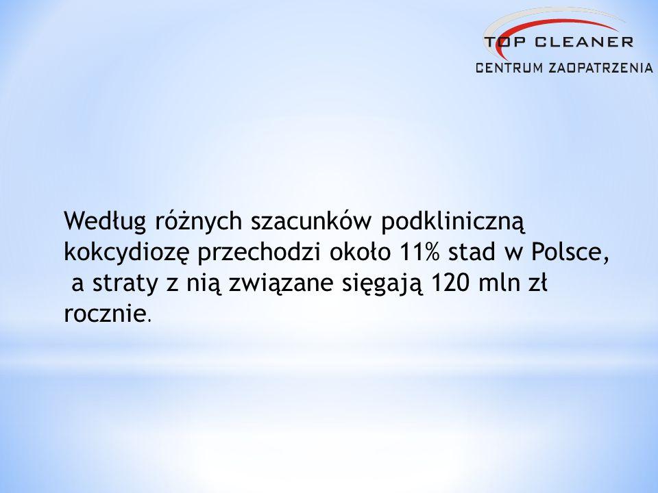 Według różnych szacunków podkliniczną kokcydiozę przechodzi około 11% stad w Polsce,