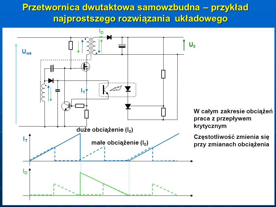 Przetwornica dwutaktowa samowzbudna – przykład najprostszego rozwiązania układowego