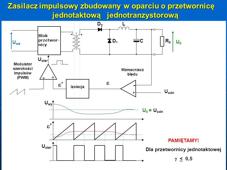 Modulator szerokości impulsów (PWM) Dla przetwornicy jednotaktowej