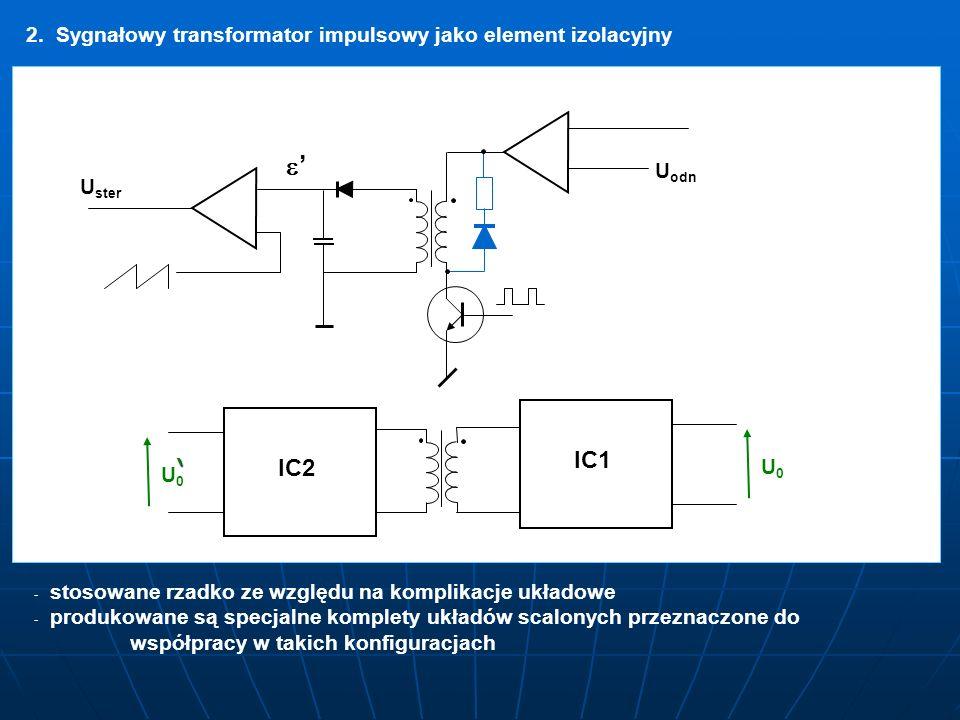 2. Sygnałowy transformator impulsowy jako element izolacyjny