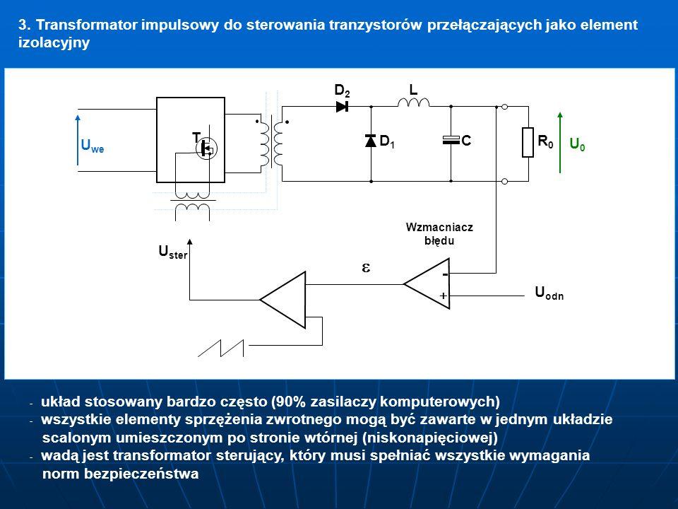 3. Transformator impulsowy do sterowania tranzystorów przełączających jako element izolacyjny