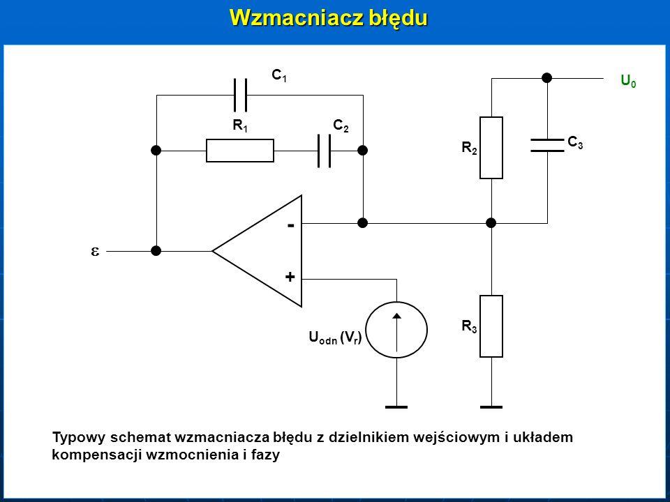 Wzmacniacz błędu - e + C1 U0 R1 C2 C3 R2 R3 Uodn (Vr)