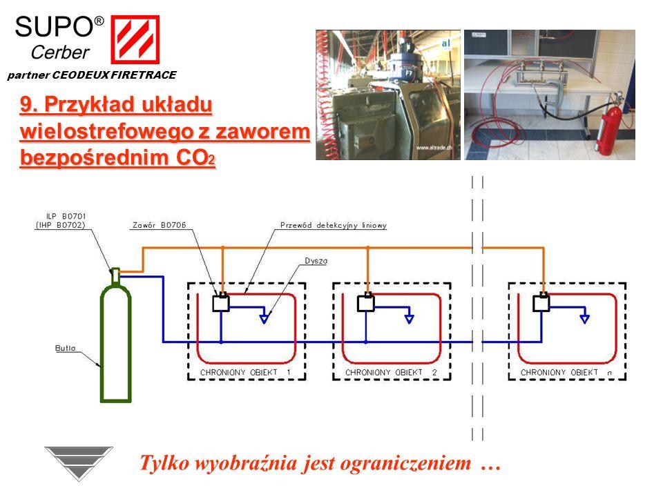 9. Przykład układu wielostrefowego z zaworem bezpośrednim CO2
