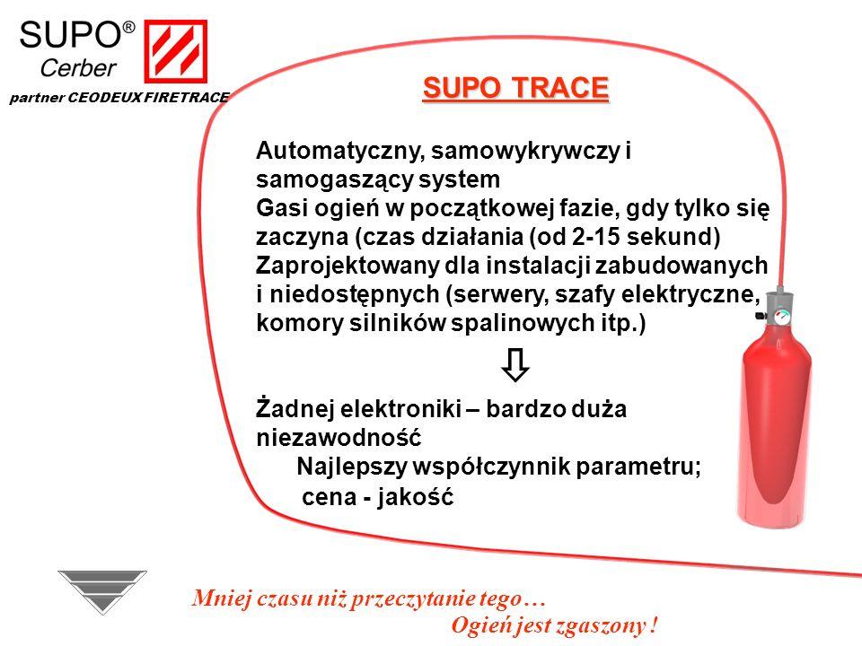  SUPO TRACE Automatyczny, samowykrywczy i samogaszący system