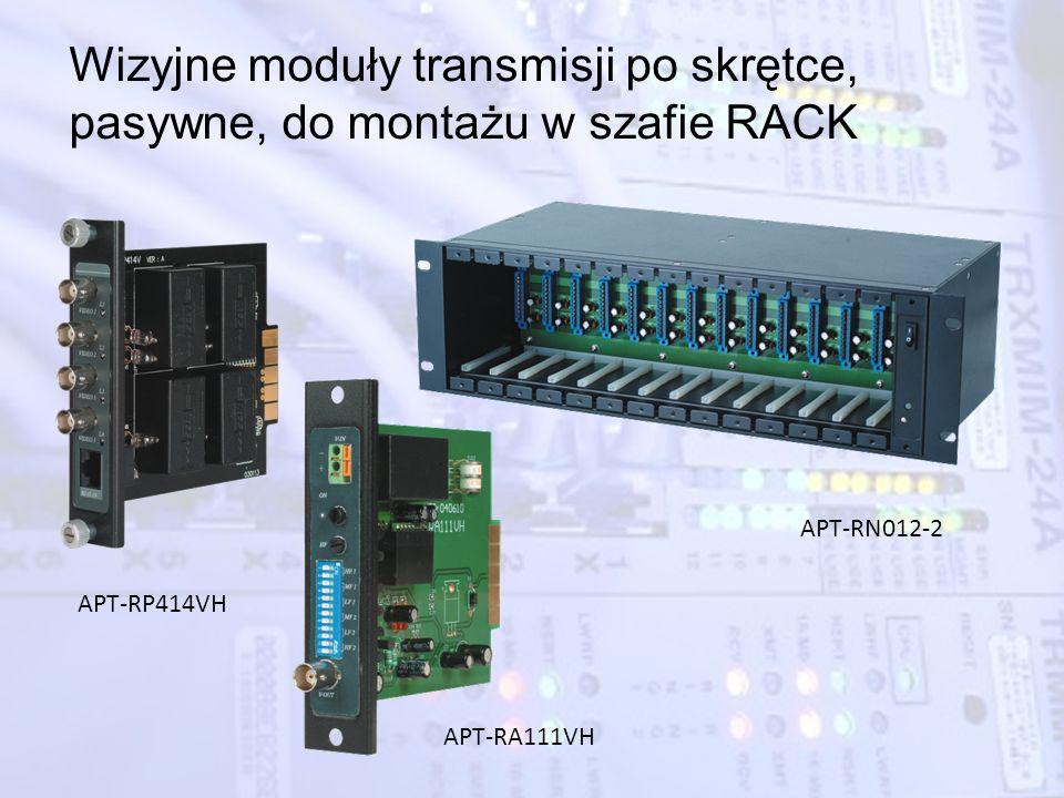 Wizyjne moduły transmisji po skrętce, pasywne, do montażu w szafie RACK