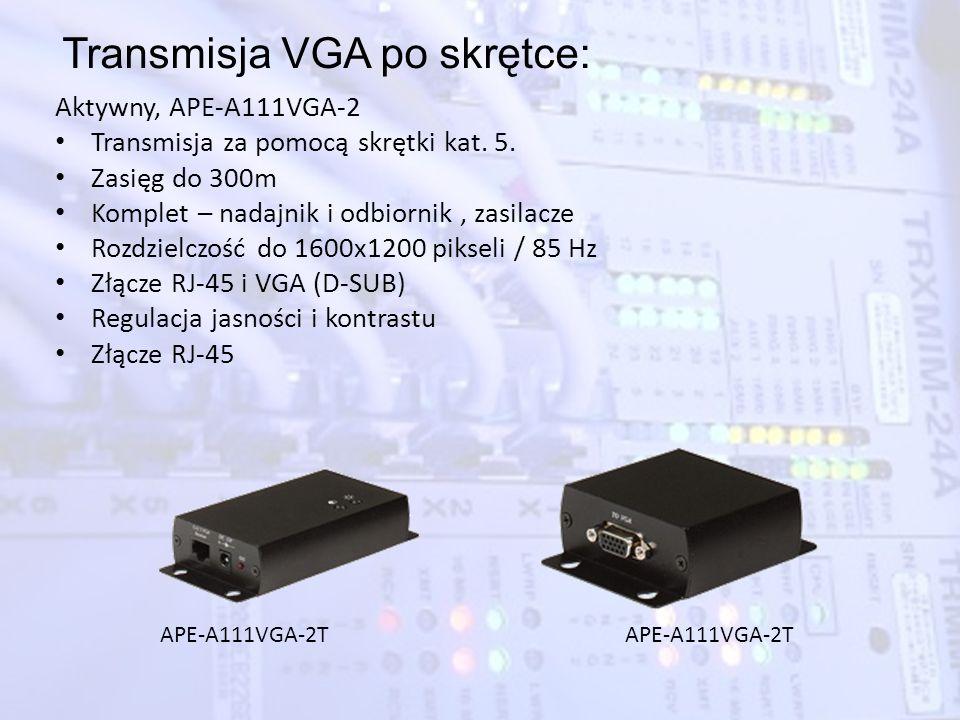 Transmisja VGA po skrętce: