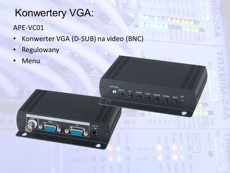 Konwertery VGA: APE-VC01 Konwerter VGA (D-SUB) na video (BNC)