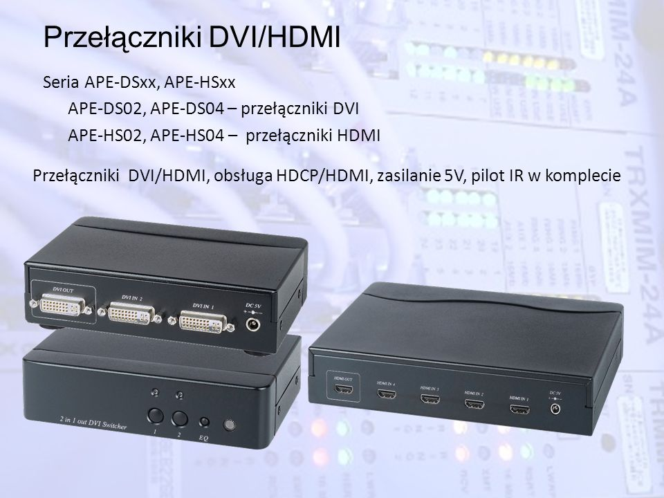 Przełączniki DVI/HDMI