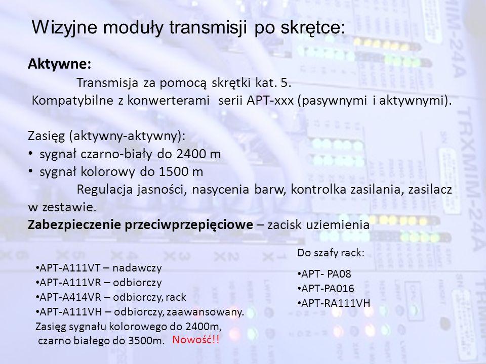 Wizyjne moduły transmisji po skrętce: