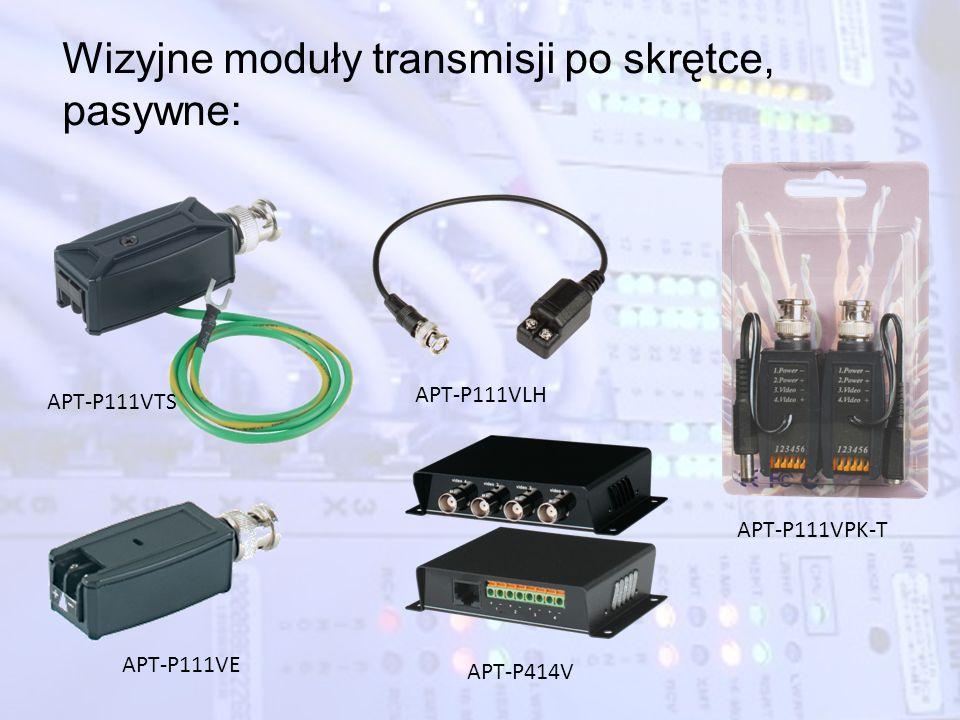 Wizyjne moduły transmisji po skrętce, pasywne: