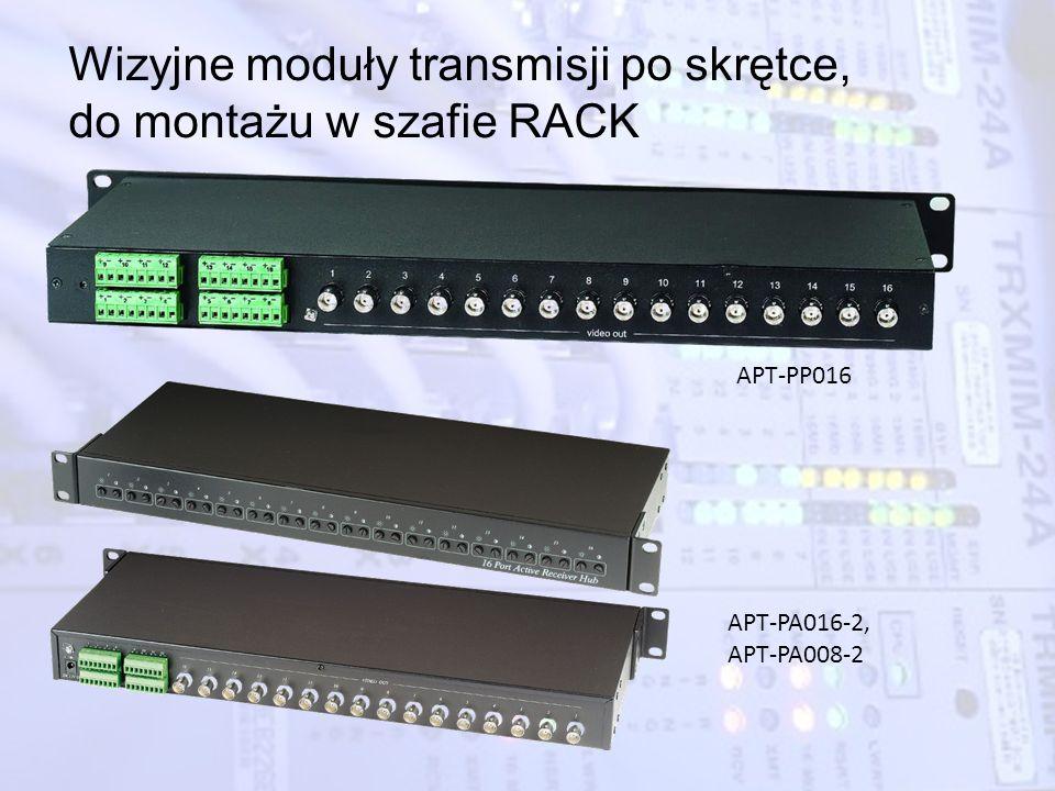 Wizyjne moduły transmisji po skrętce, do montażu w szafie RACK