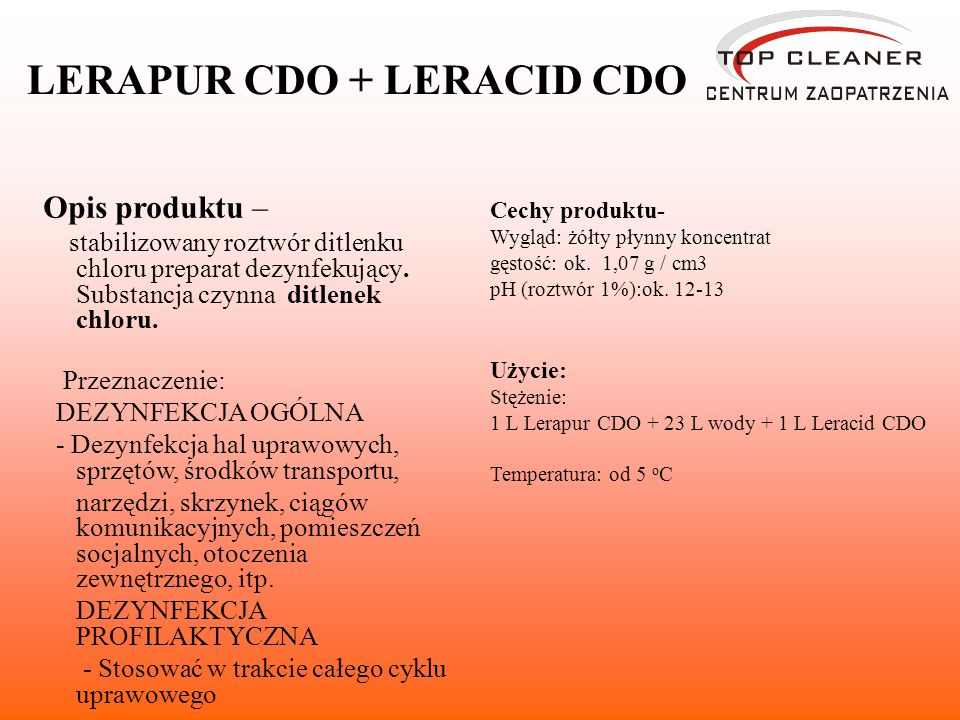 LERAPUR CDO + LERACID CDO