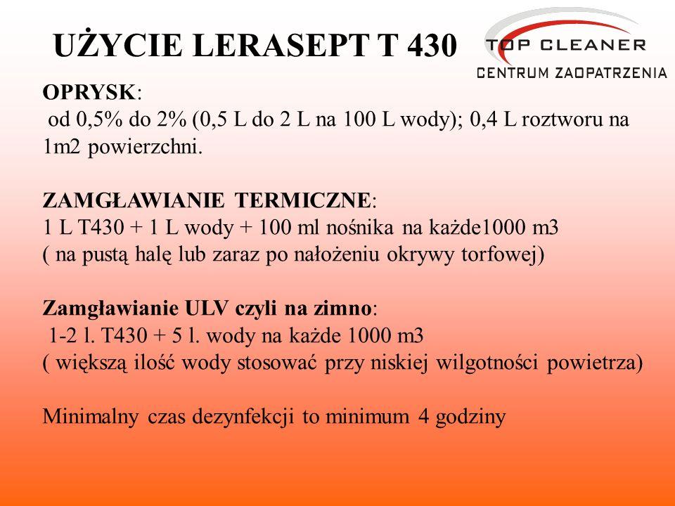 UŻYCIE LERASEPT T 430 OPRYSK: