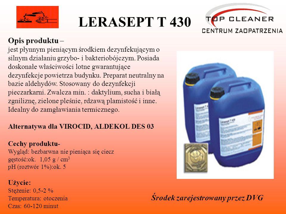 LERASEPT T 430 Opis produktu – Środek zarejestrowany przez DVG