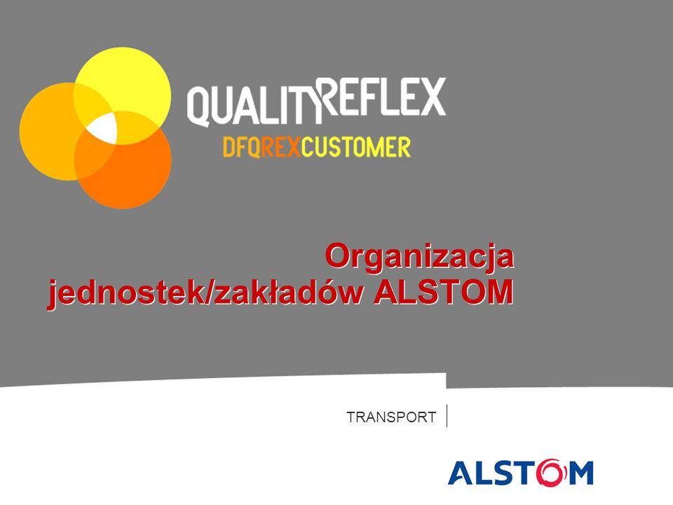 Organizacja jednostek/zakładów ALSTOM