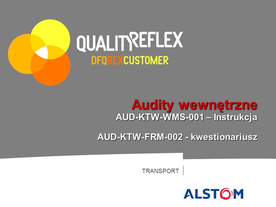Audity wewnętrzne AUD-KTW-WMS-001 – Instrukcja AUD-KTW-FRM-002 - kwestionariusz