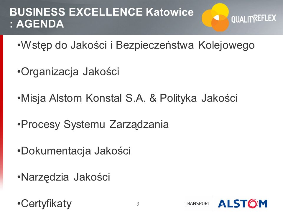 BUSINESS EXCELLENCE Katowice : AGENDA