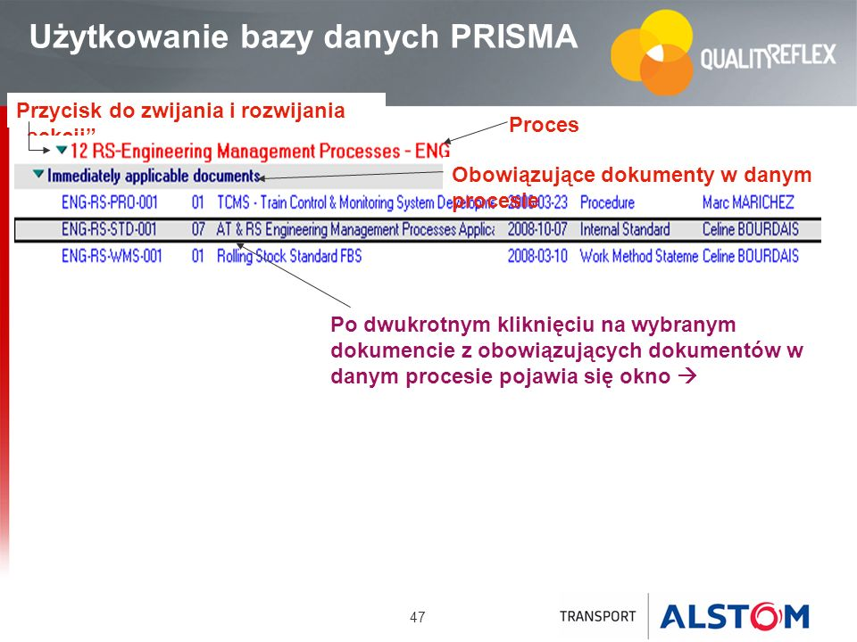 Użytkowanie bazy danych PRISMA