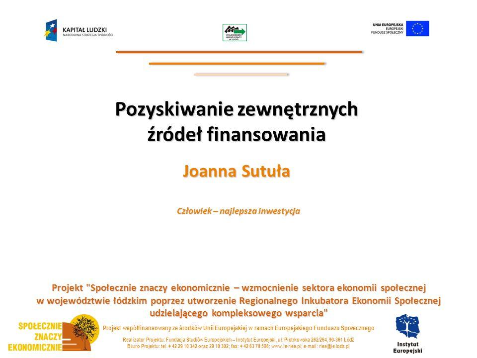 Pozyskiwanie zewnętrznych źródeł finansowania