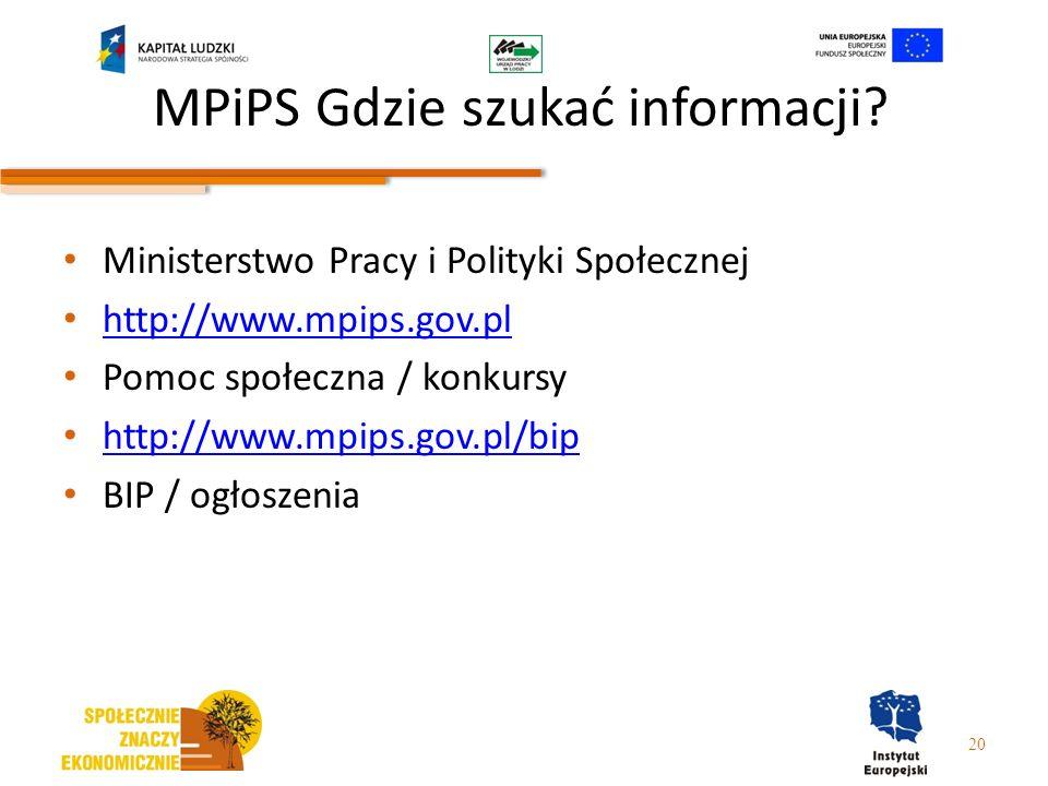 MPiPS Gdzie szukać informacji