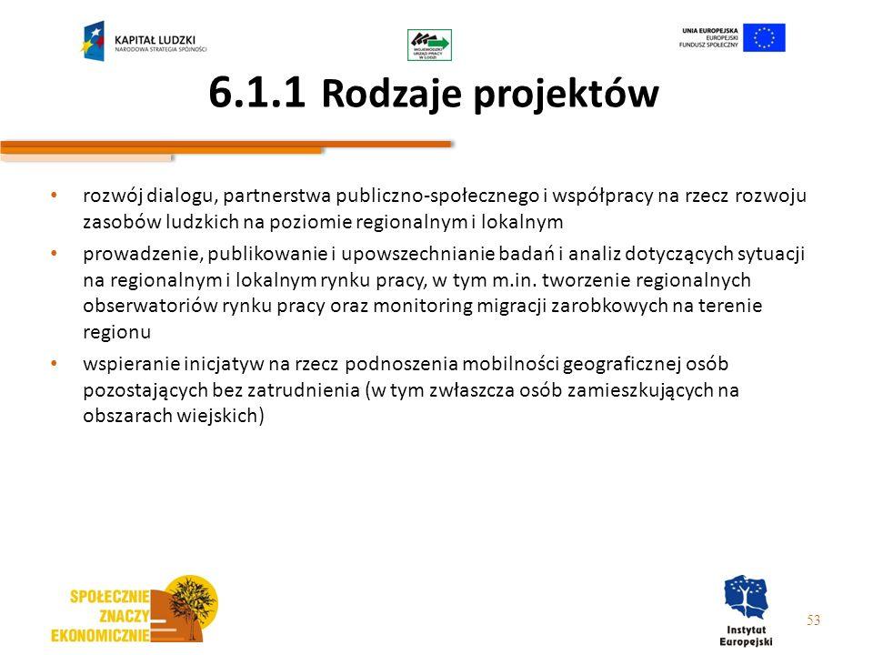6.1.1 Rodzaje projektów