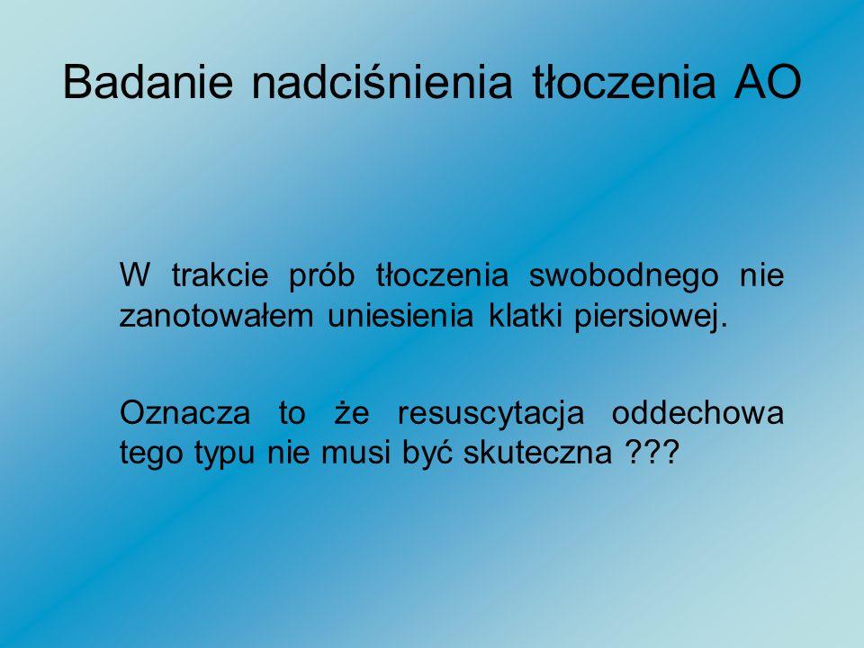 Badanie nadciśnienia tłoczenia AO