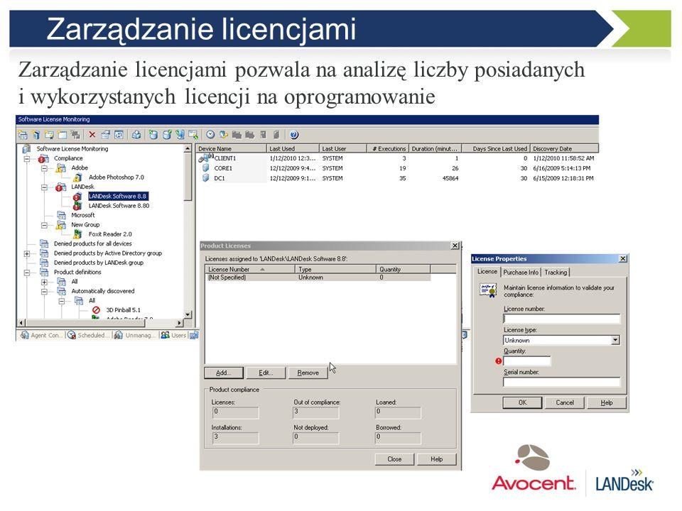 Zarządzanie licencjami