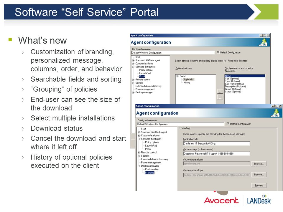 Software Self Service Portal
