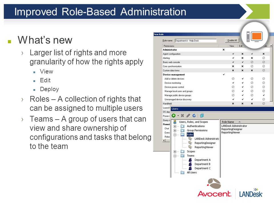 Improved Role-Based Administration