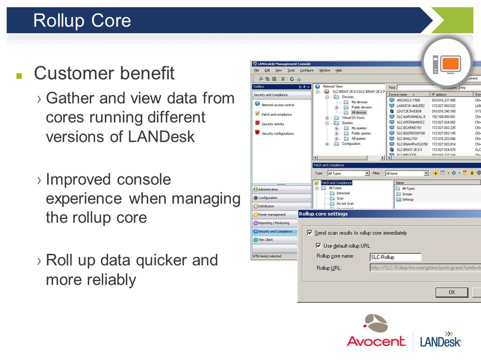 Rollup Core Customer benefit