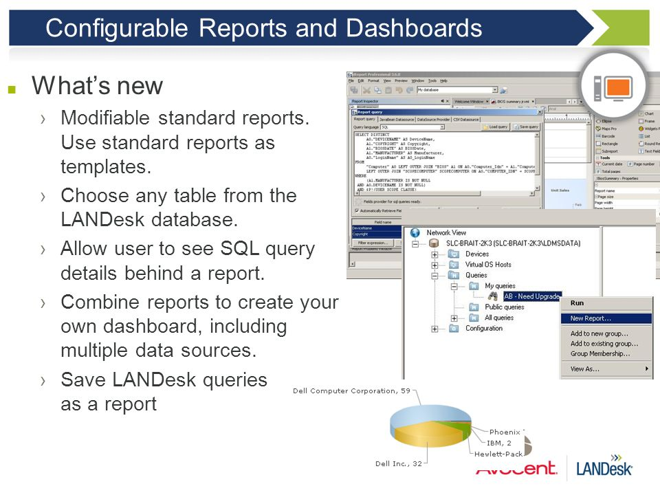 Configurable Reports and Dashboards
