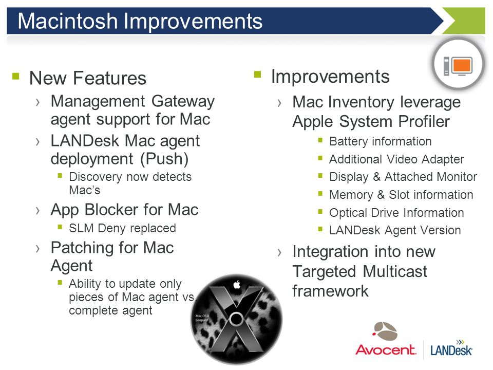 Macintosh Improvements