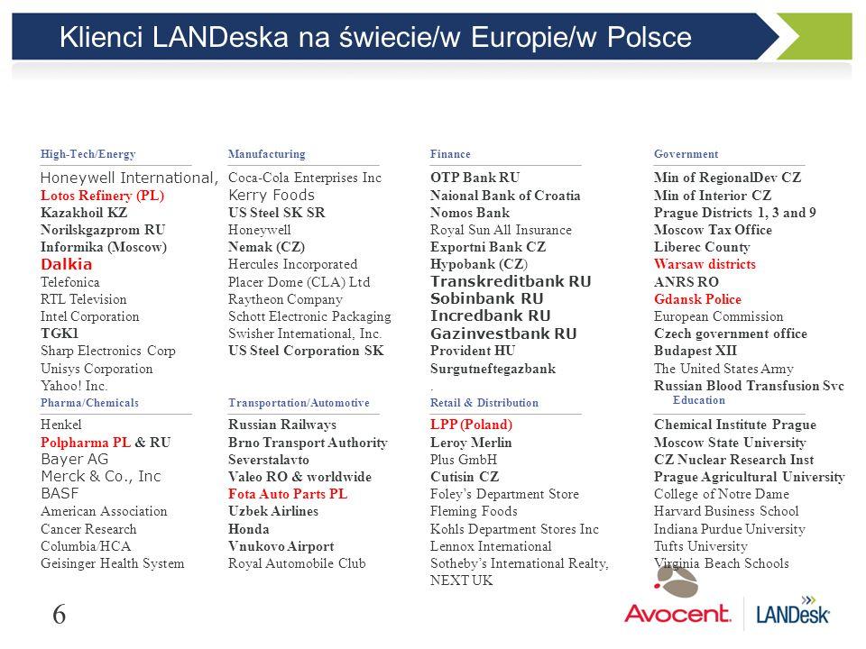 Klienci LANDeska na świecie/w Europie/w Polsce