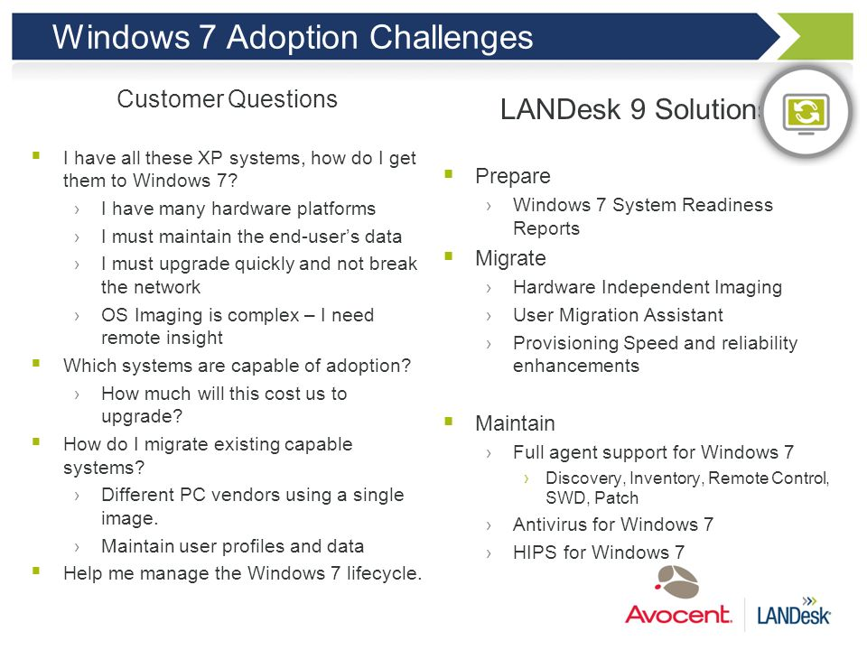 Windows 7 Adoption Challenges
