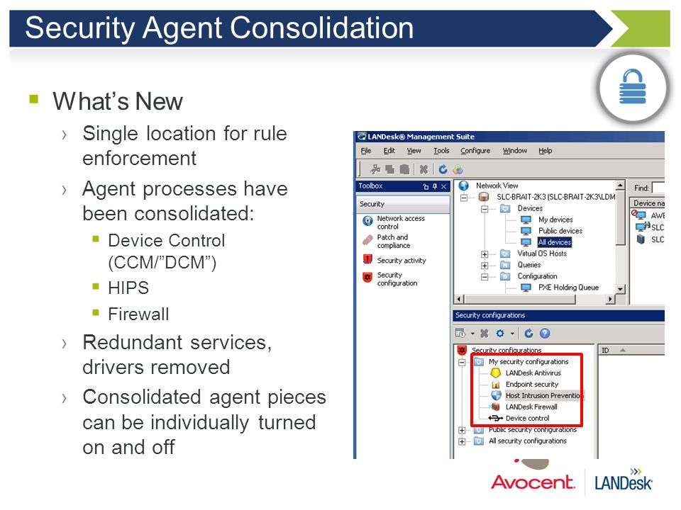 Security Agent Consolidation