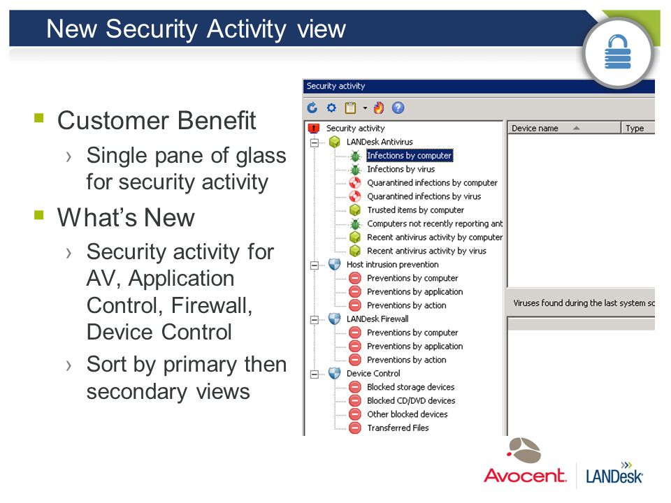 New Security Activity view