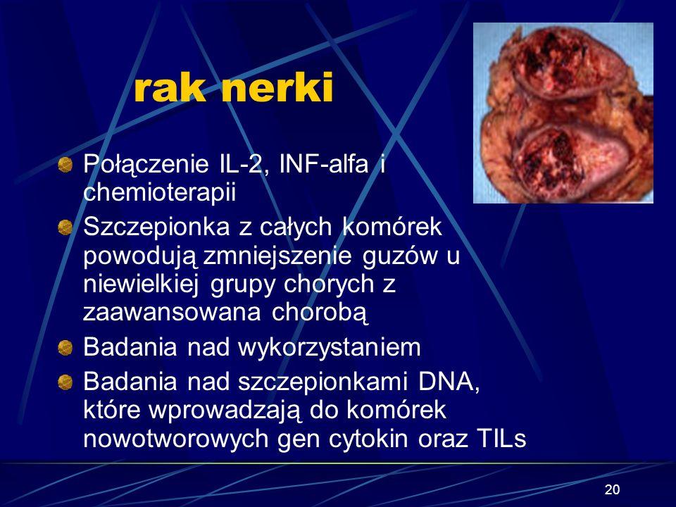 rak nerki Połączenie IL-2, INF-alfa i chemioterapii