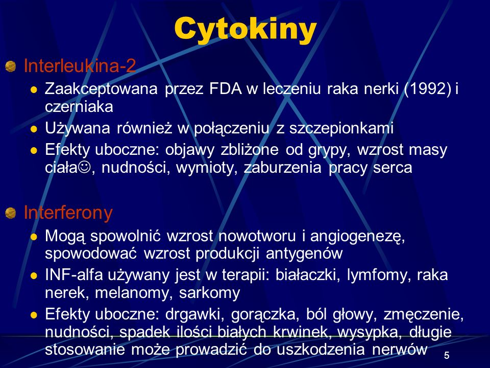 Cytokiny Interleukina-2 Interferony