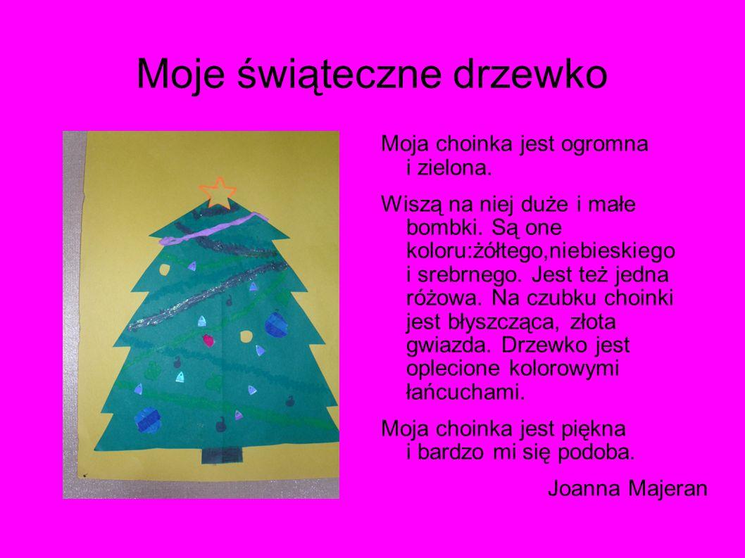 Moje świąteczne drzewko