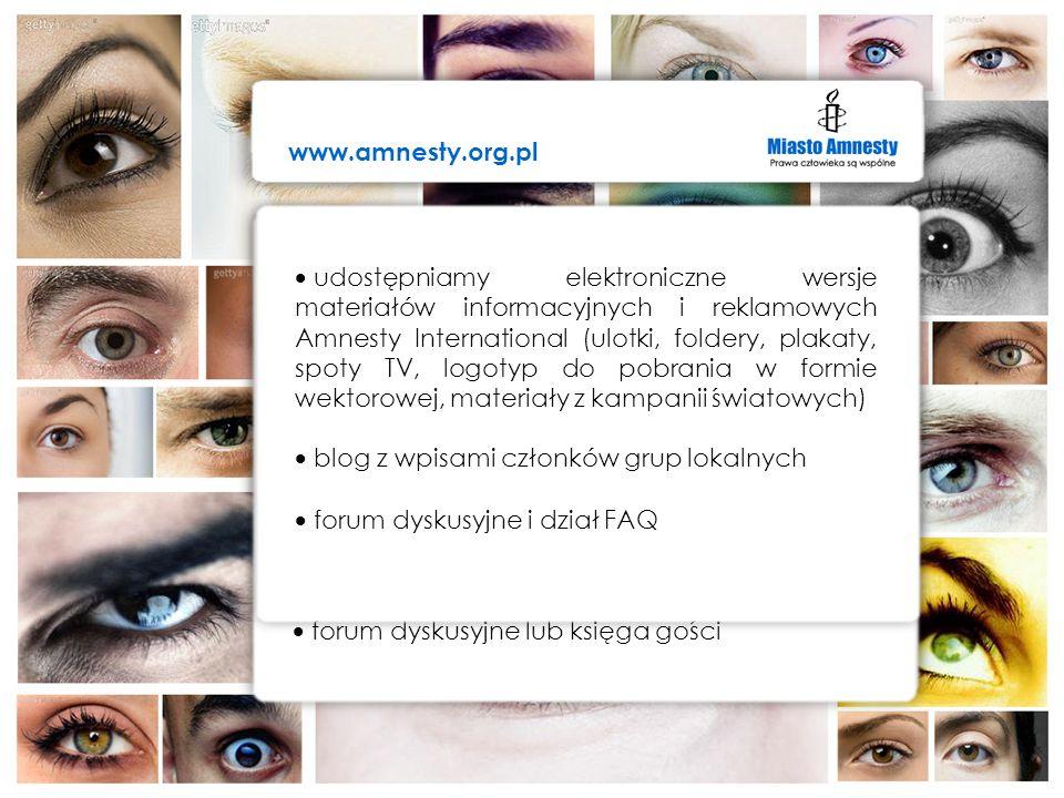 www.amnesty.org.pl Internet – wizerunek grup lokalnych. Internet – wizerunek grup lokalnych.