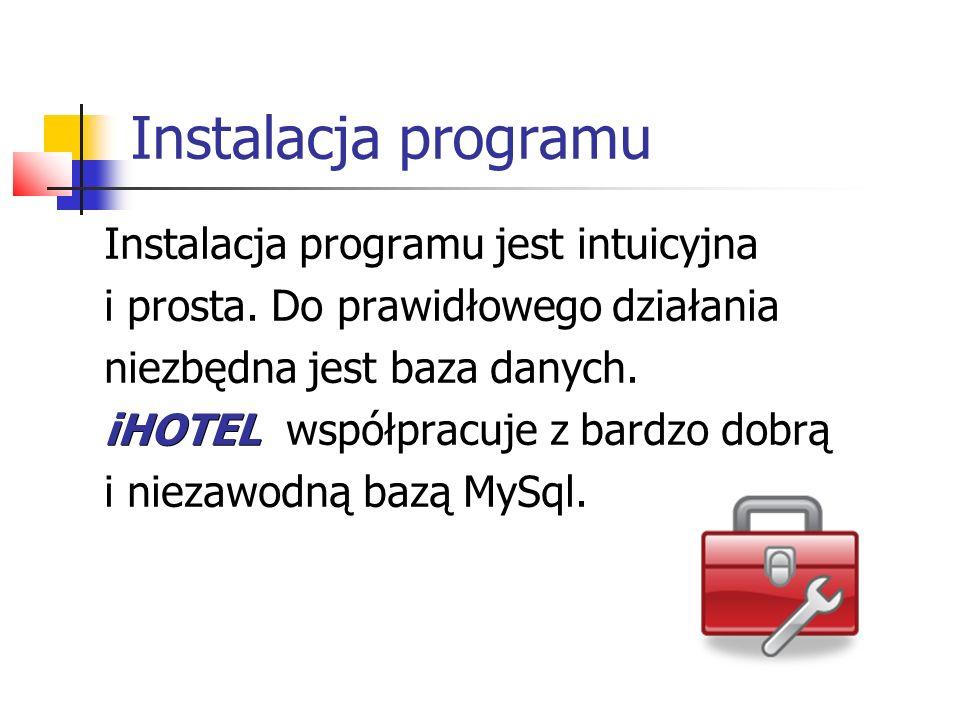 Instalacja programu Instalacja programu jest intuicyjna