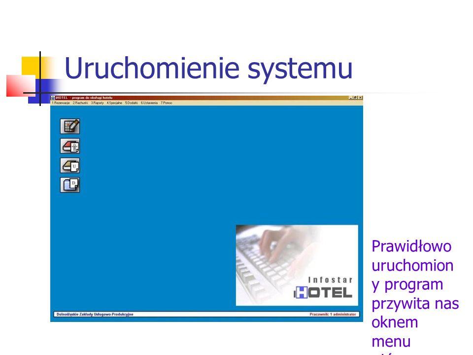 Uruchomienie systemu Prawidłowo uruchomiony program