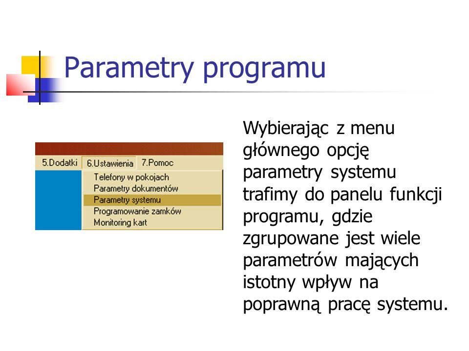 Parametry programu