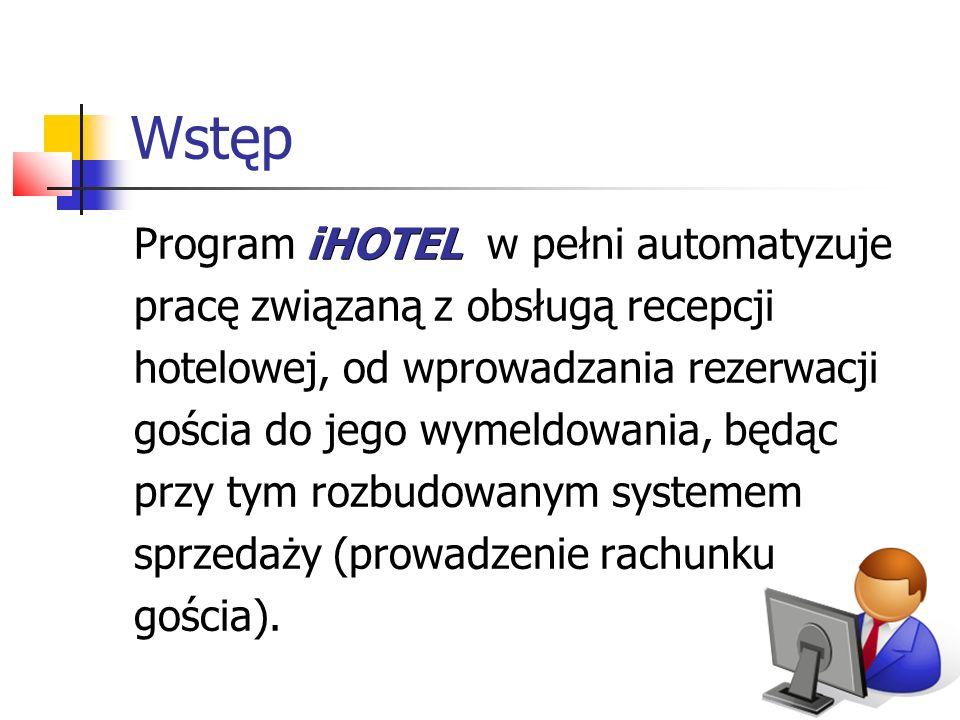 Wstęp Program iHOTEL w pełni automatyzuje