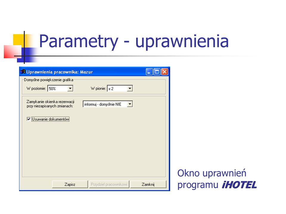 Parametry - uprawnienia