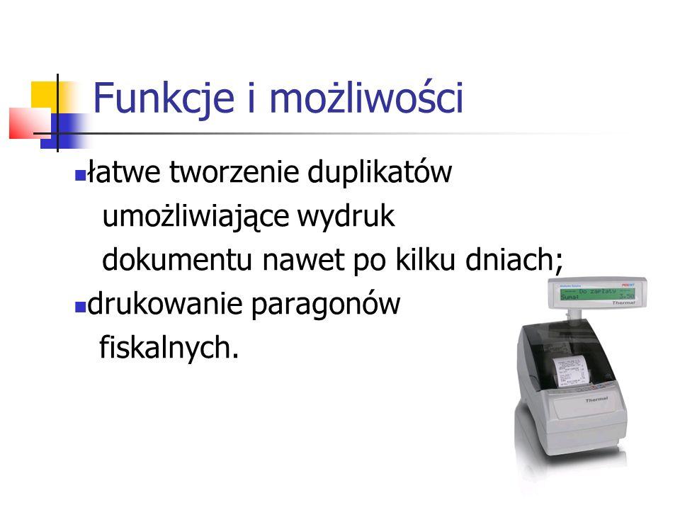 Funkcje i możliwości łatwe tworzenie duplikatów umożliwiające wydruk