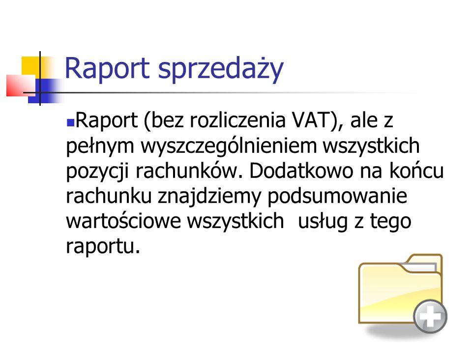 Raport sprzedaży