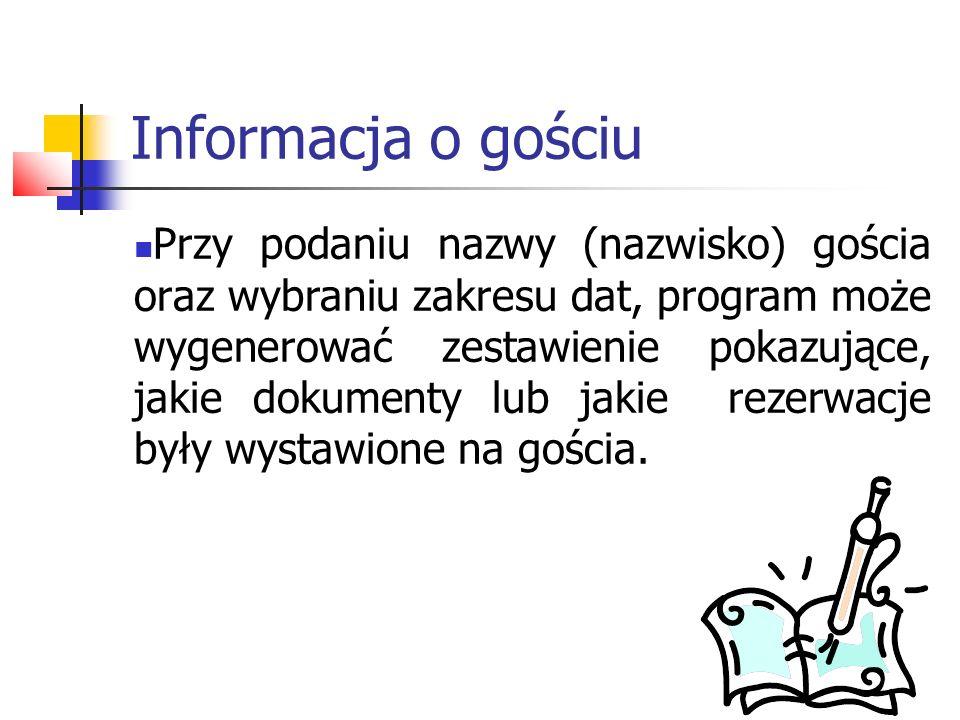 Informacja o gościu