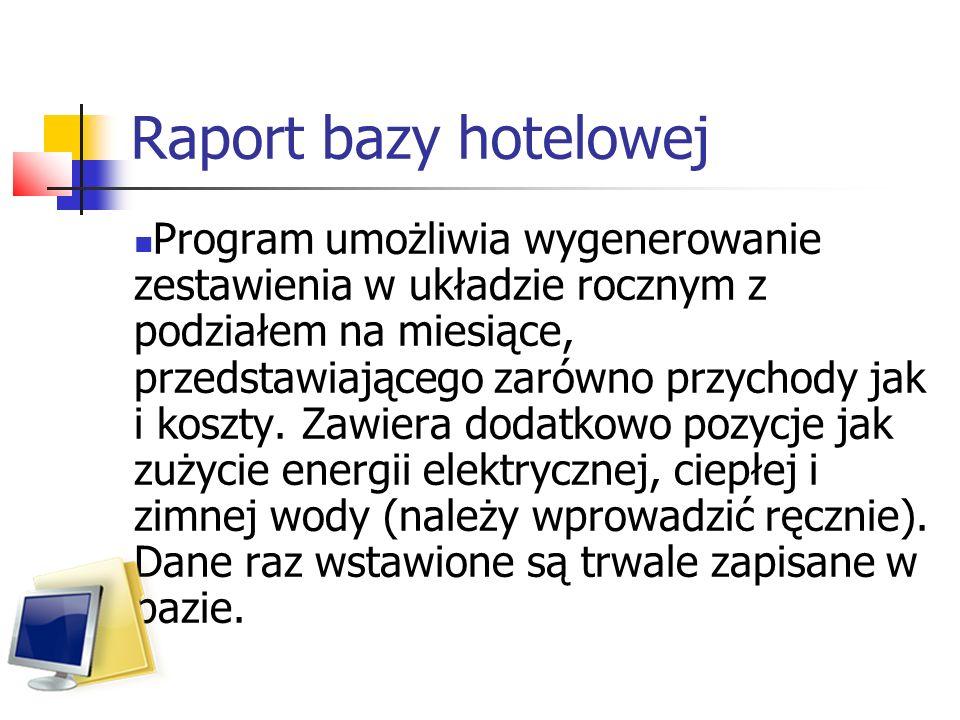 Raport bazy hotelowej